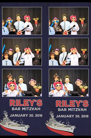 Riley's Mitzvah Photo Booth Prints