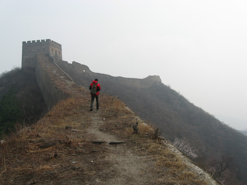 Finally... back on top of the wall after passing the military reservation.