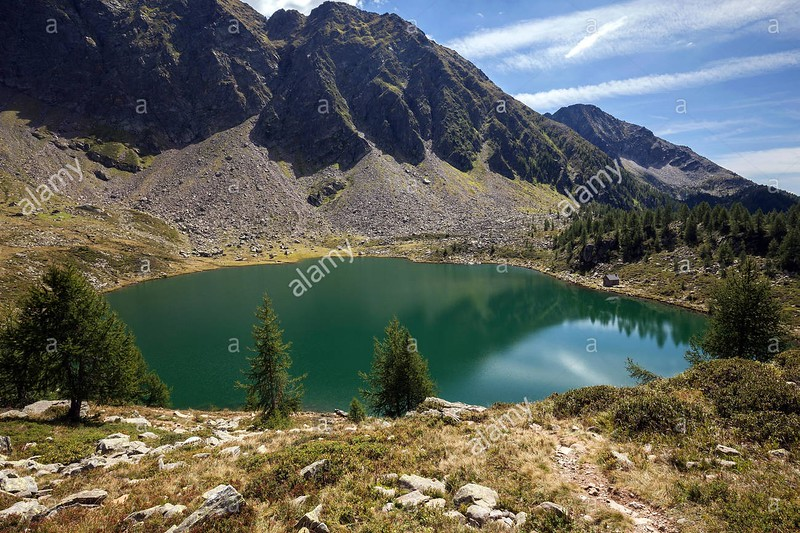 Lago di Mognola, 2003 m. Source: Alamy stock photos