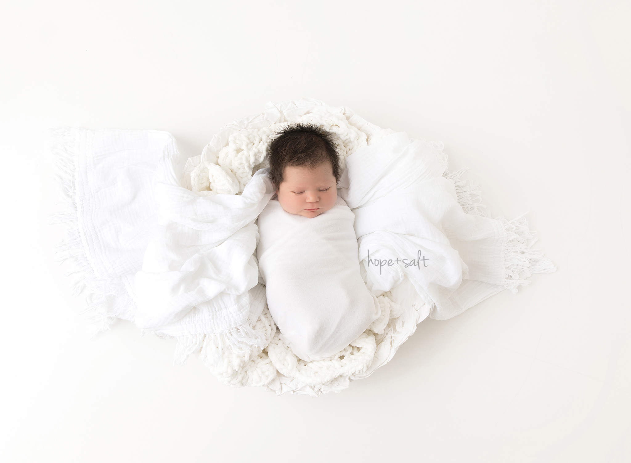 oakville newborn photographer - studio session for baby boy James big sibling sister and parents in simple natural style