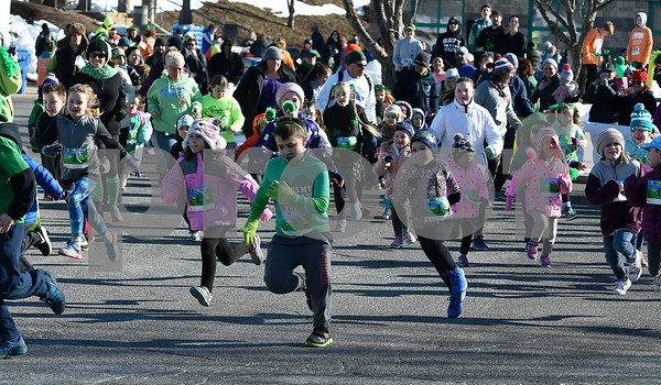 3/17/2018 Mike Orazzi | Staff The start of the kids fun run during the 16th Annual Shamrock Run and Walk held at the Chippens Hill Middle School Saturday morning.