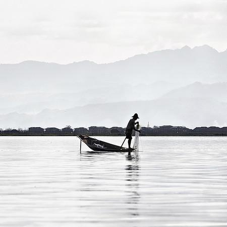 Sur le lac Inlé