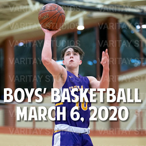 Boys Basketball March 6, 2020