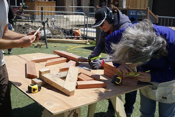2018 5/6 Carpentry Workshop Arbor Build