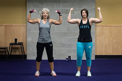 Mother and Daughter's workout morning