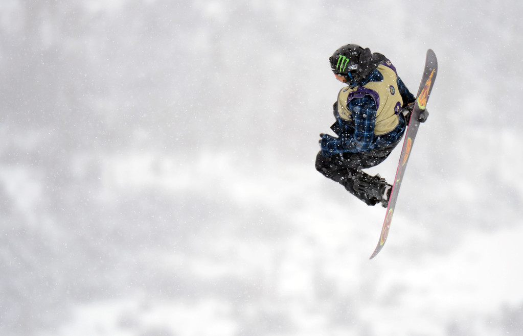 . VAIL, CO. - MARCH 1: Sage Kotsenburg of Park City is competing during the men\'s slopestyle final of Burton U.S. Open. March 1, 2013. Vail, Colorado. (Photo By Hyoung Chang/The Denver Post)