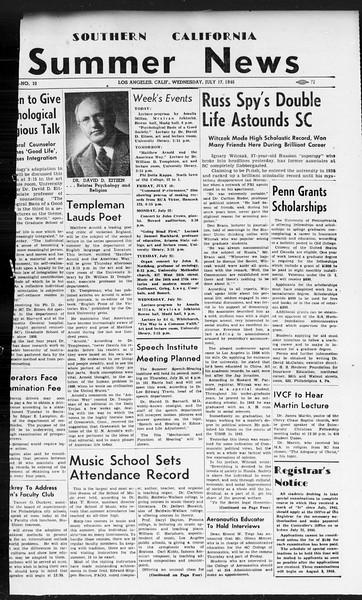 Summer News, Vol. 1, No. 10, July 17, 1946
