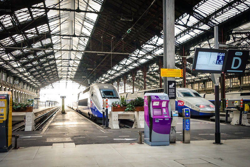 Departing to the Chateau of Fontainebleau: Taking the train at Gare de Lyon