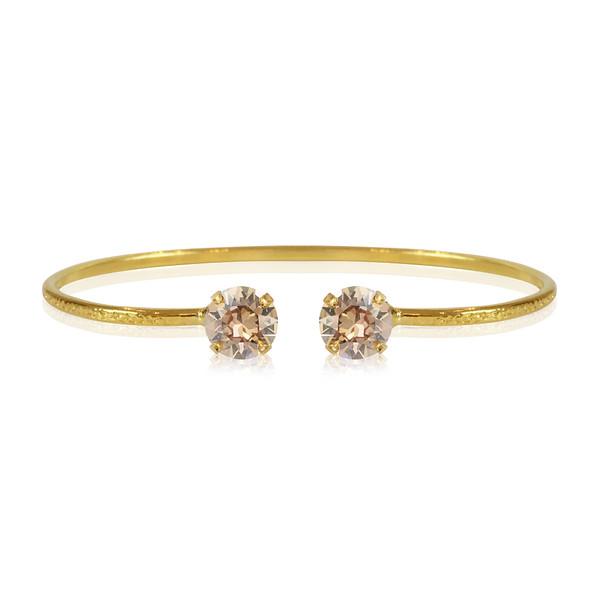 Petite Stud Bracelet / Golden Shadow Gold