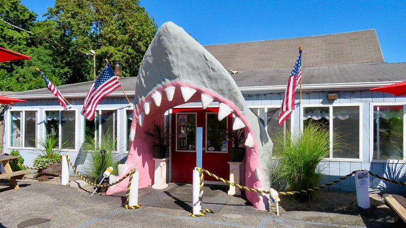 Atlantic Seafood Shark Door - Long Island Roadside Attraction