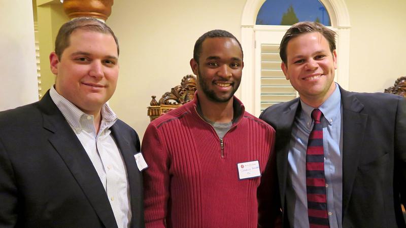 Matt Murray '98, National Council Member Derrick Barker '06, and Peter Theis '06