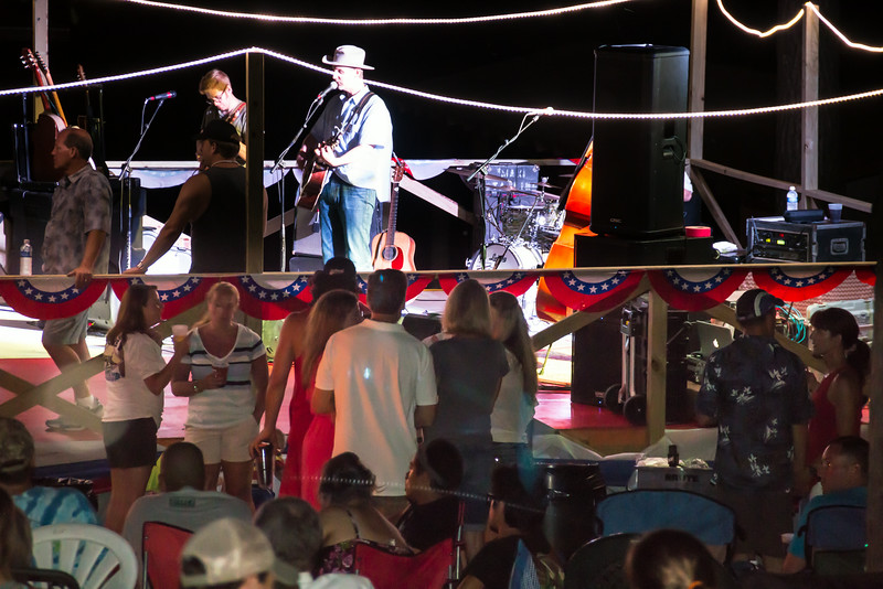 country band plays Houston County lake