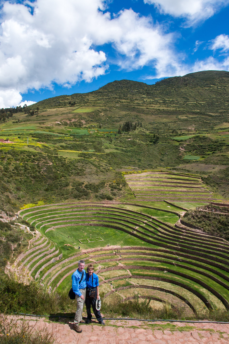 Agricultural terraces of Moray, Sacred Valley where potatoes grew in abundance, over 2,000 varieties.