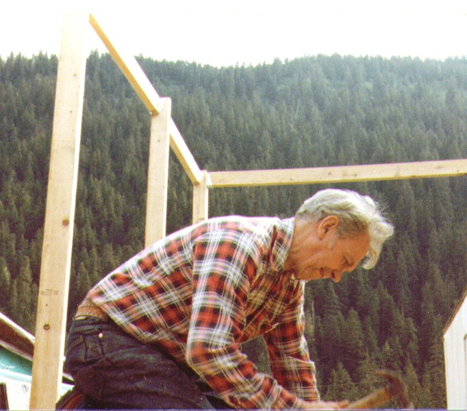 Wayne working on Terry's porch, Juneau, AK, 1980-2.jpg