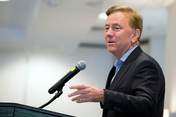 05/13/19 Wesley Bunnell | Staff Governor Ned Lamont spoke with the Central Connecticut Chambers of Commerce on Monday in Bristol. Governor Ned Lamont speaks to members of the chambers.
