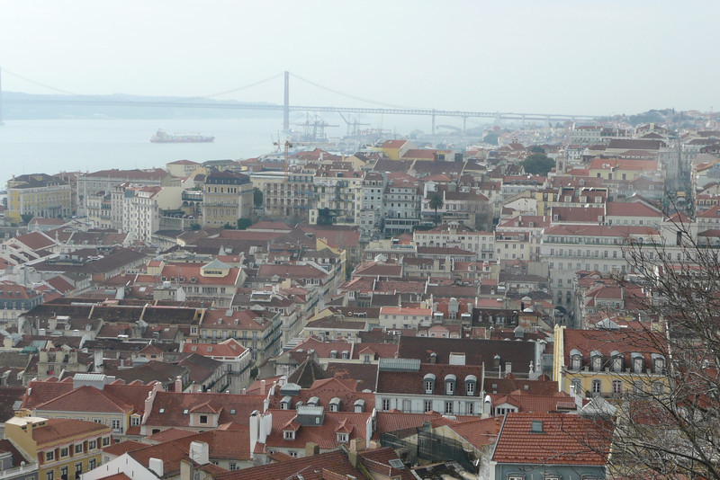Baixa Seen from Castelo de São Jorge. Lisbon