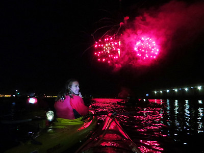 Night Kayak and Fireworks: Apr 14, 2017