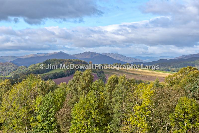 Scottish Autumn and Crieff Hillside.