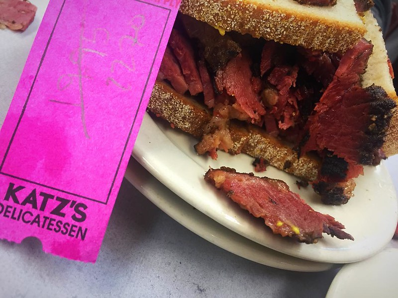 First time for everything...one of the best pastrami sandwiches I can ever recall (super thick slices).