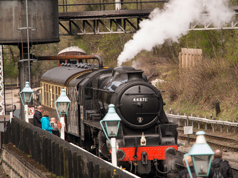 The North Yorkshire Moors Railway at Grosmont, N Yorkshir