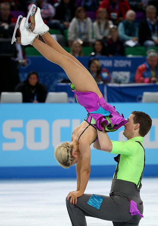 . Danielle Obrien and Gregory Merriman of Australia perform in the Figure Skating Ice Dance Free Dance at Iceberg Skating Palace during the Sochi 2014 Olympic Games, Sochi, Russia, 17 February 2014.  EPA/HOW HWEE YOUNG
