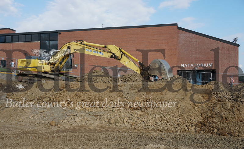 Photo by J.W. Johnson Jr. Earthwork has begun on Seneca Valley's new aquatics center.
