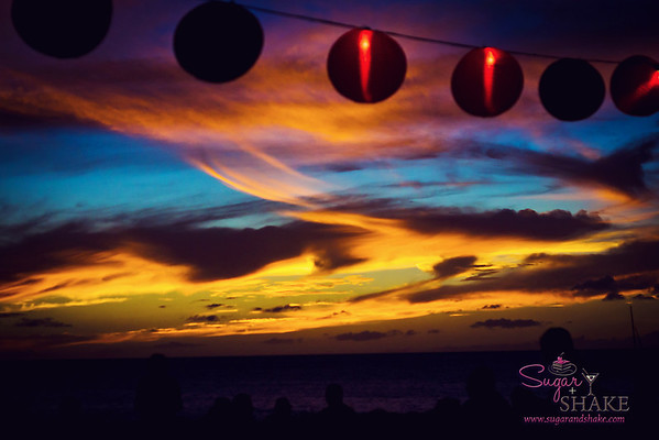 Beautiful sunset sky at the closing event, the Concert Under the Kā'anapali Moonlight. © 2012 Sugar + Shake