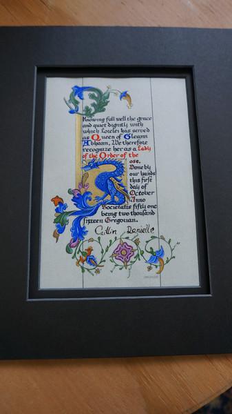 Lorelei's Rose scroll by Jorhildr