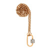 Marla Aaron Stoned Lock for Jewels by Grace Exclusive, Yellow Gold 3