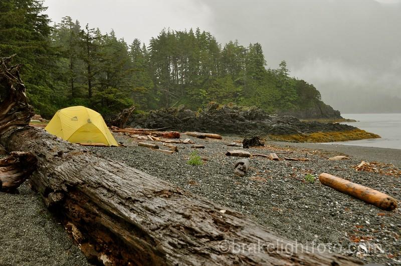 Campsite on Nuchatlitz Inlet