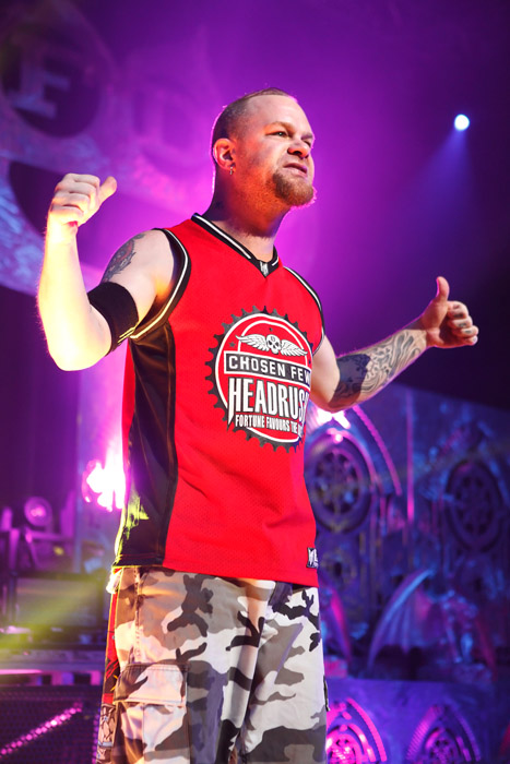 Description of . Ivan Moody of Five Finger Death Punch performs at Fillmore Detroit on Tuesday, Oct. 2, 2013. Photo by Ken Settle