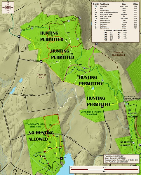 John Boyd Thacher State Park (Hunting Map)
