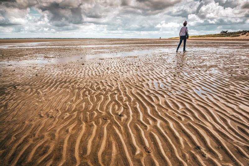 Woman on Utah Beach, Normandy