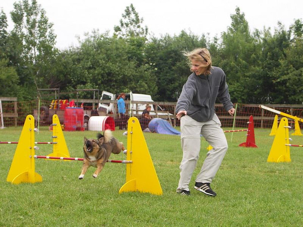 10 oktober 2004 Zondagse agility-training bij Buzgiz