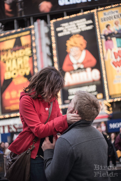 Ben and Jill - Times Square engagement