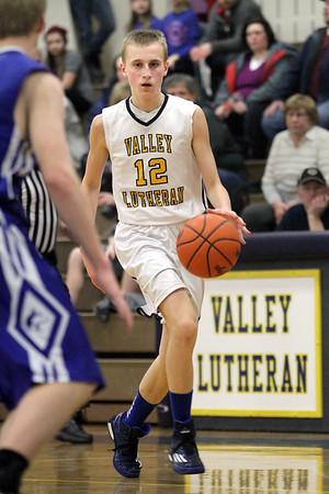 Hemlock varsity basketball at Valley Lutheran 20150130