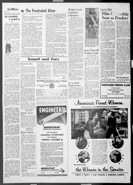 Daily Trojan, Vol. 45, No. 18, October 14, 1953