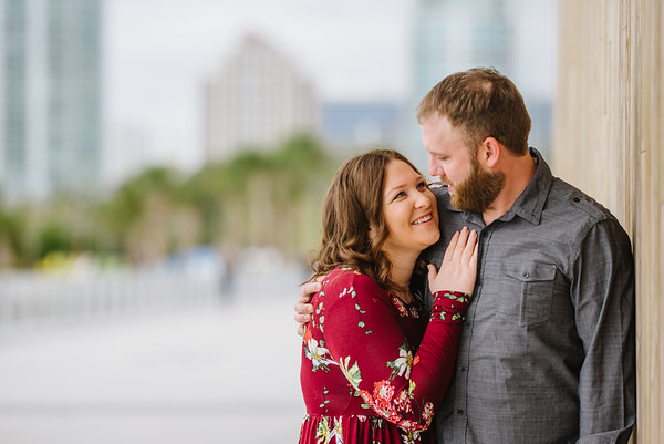 St Pete Florida Engagement Photos at Pier