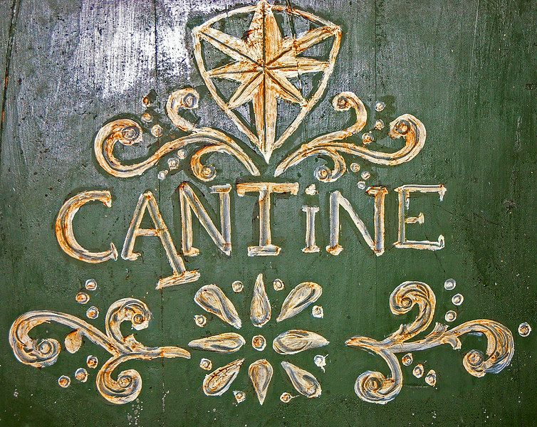 Cantine sign at Castello di Verrazanno in Greve, Italy