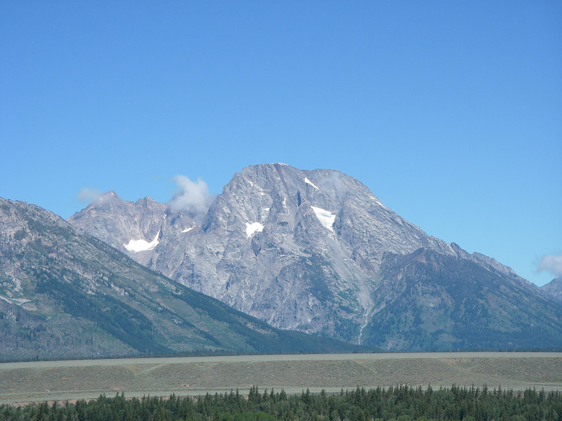 We were heading to Yellowstone National Park and went by Mount Moran.