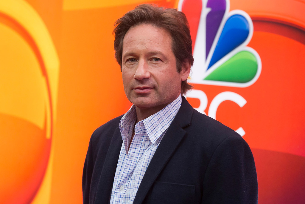 . David Duchovny arrives at the NBC Network 2015 Programming Upfront presentation at Radio City Music Hall on Monday, May 11, 2015, in New York. (Photo by Charles Sykes/Invision/AP)