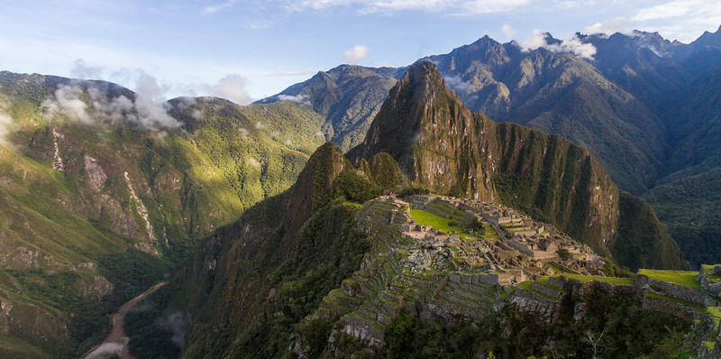 Machu Picchu and the surrounding mountains in Peru