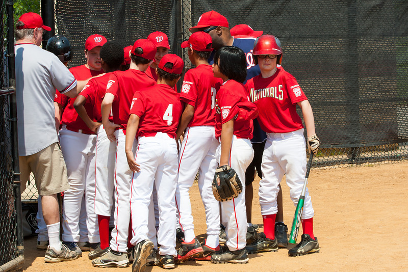 The bats of the Nationals were supported by a great defensive outing in a 11-4 win over the Twins. They are now 7-3 for the season. 2012 Arlington Little League Baseball, Majors Division. Nationals vs Twins (13 May 2012) (Image taken by Patrick R. Kane on 13 May 2012 with Canon EOS-1D Mark III at ISO 400, f11.0, 1/400 sec and 98mm)