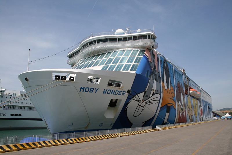 2008 - F/B MOBY WONDER moored in Civitavecchia.