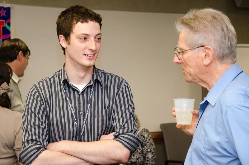 James Bubeck with Bruce -- Bruce Woodgate retirement party, NASA/GSFC, June 2013