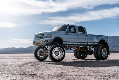 """@Hollywood_mike 1997 @Ford F350 28"""" Polished #SEIGE Super Dually Series 42"""" @FuryOffroadTired"""