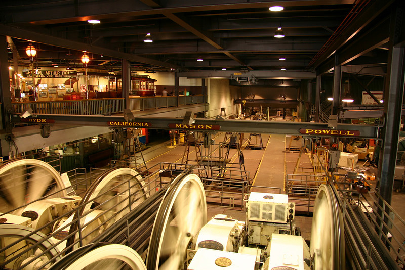 The cable car museum and power house.