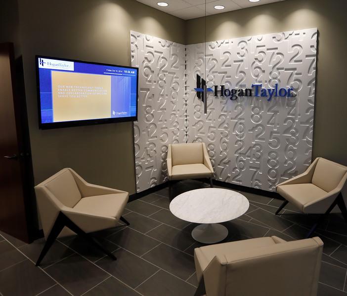 The main lobby of HoganTaylor in Tulsa.