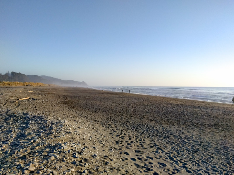Looking south on the Gold Beach beach.