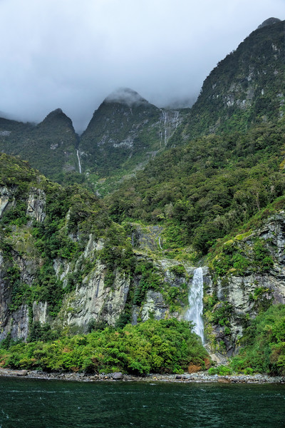 Seasonal Waterfalls on Milford Sound